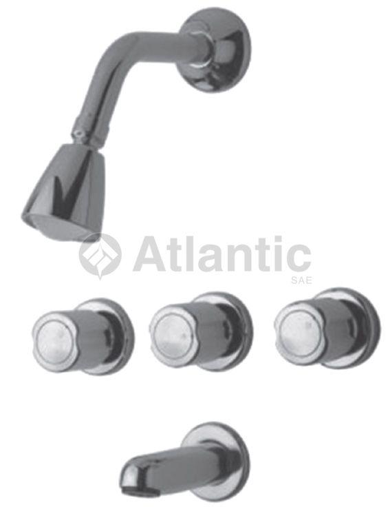 mezcladora para ducha ba era cromada atlantic s a e