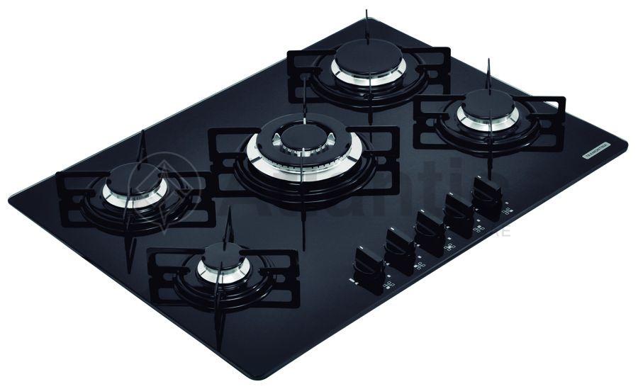 Cocina Encimera Gas | Placa Cocina Vidrio 5 Quemadores A Gas Atlantic S A E